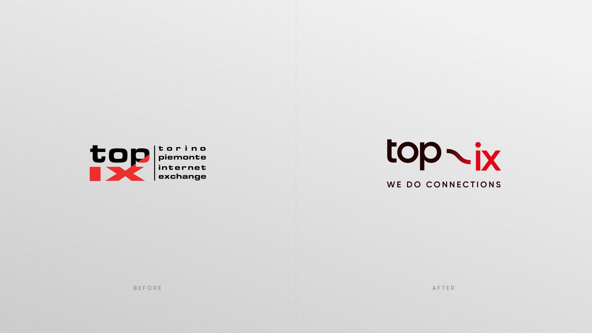 vecchio e nuovo logo di top-ix