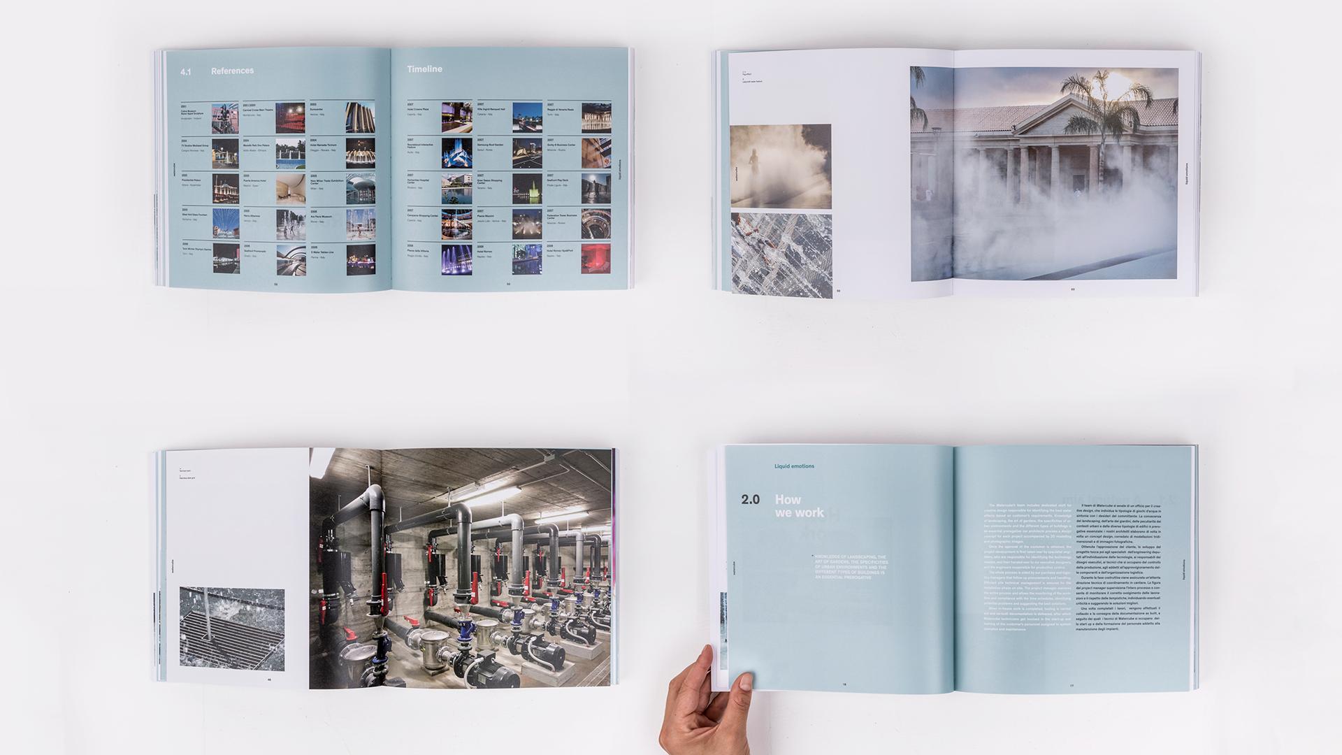 watercube book spread