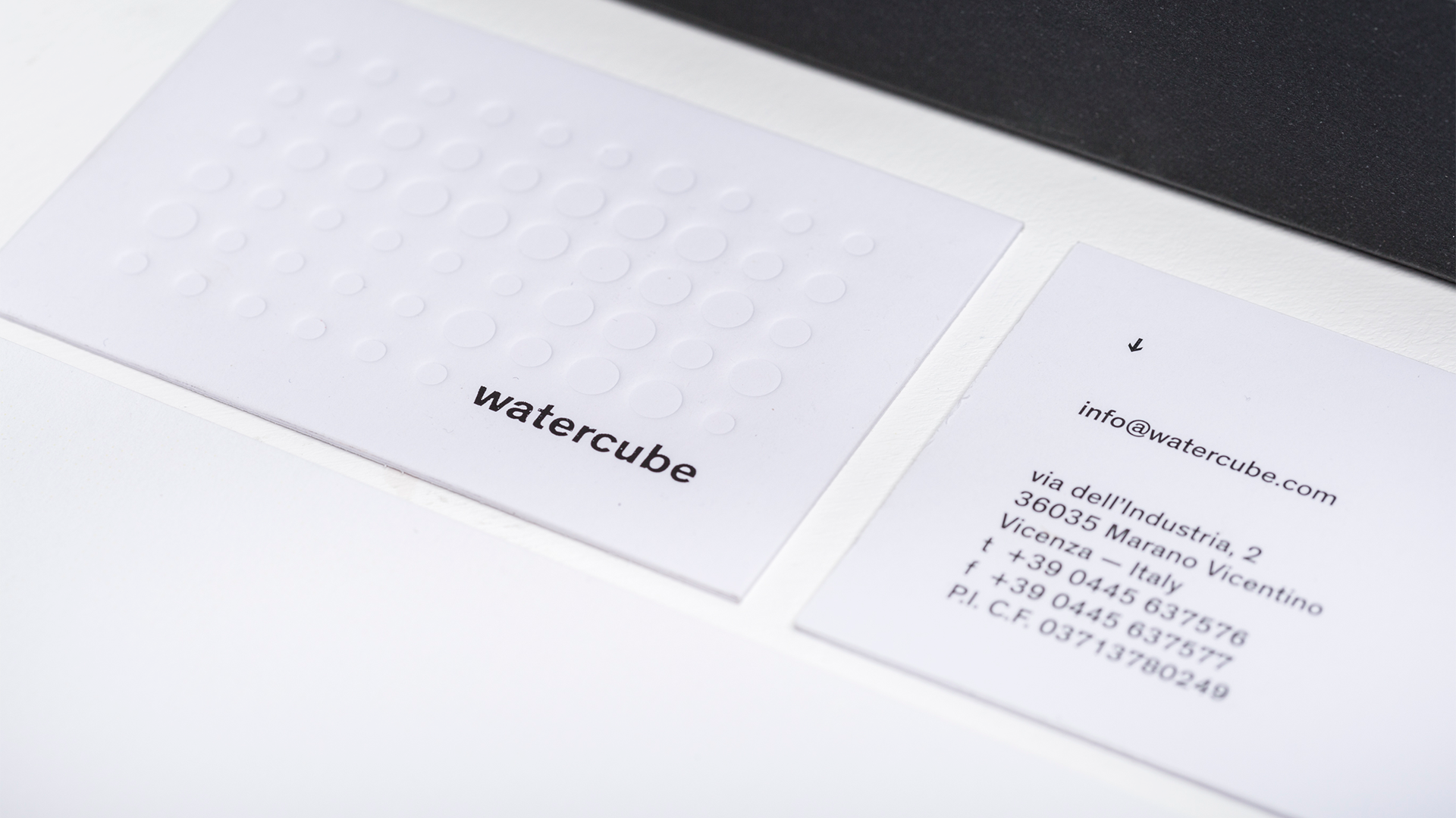 watercube business card